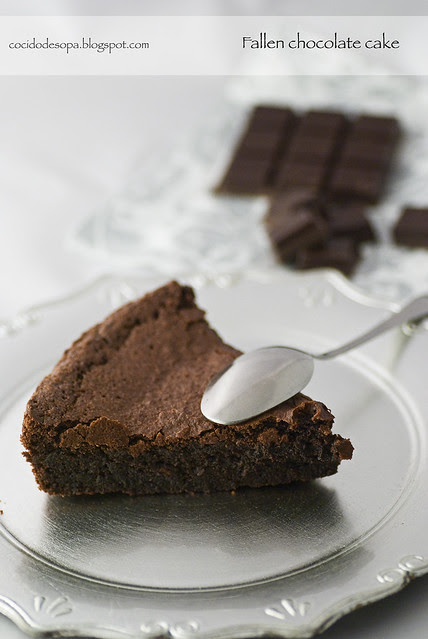 Fallen chocolate cake_2