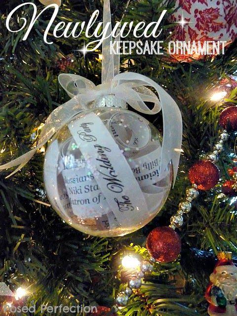 Posed Perfection: Newlywed Keepsake Ornament