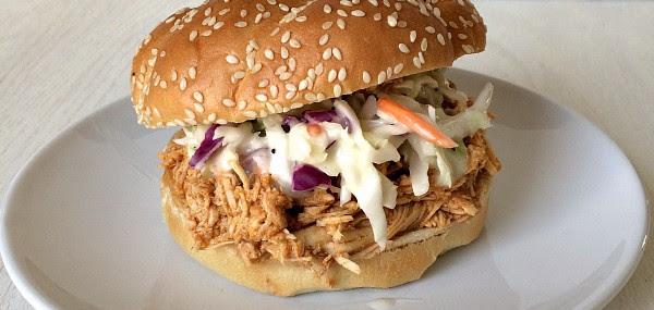 Buffalo Chicken Sandwiches (Crockpot)