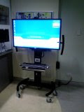 QUT mobile flat screen with PC and web camera