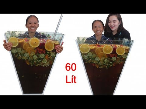 Bà Tân Vlog - Làm Cốc Trà Hoa Quả Nhiệt Đới Siêu To Khổng Lồ