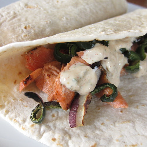 Salmon Fajitas...or are they Tacos