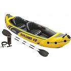 Intex Explorer K2 2-Person Inflatable Kayak Set, Yellow/Black