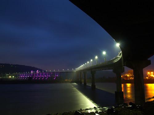 Big Dam Bridge in a big dam storm