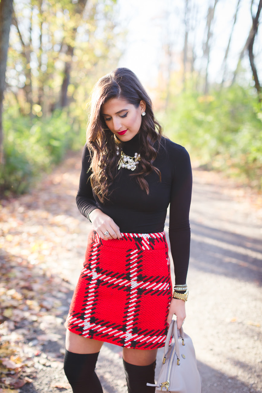red plaid skirt  a southern drawl