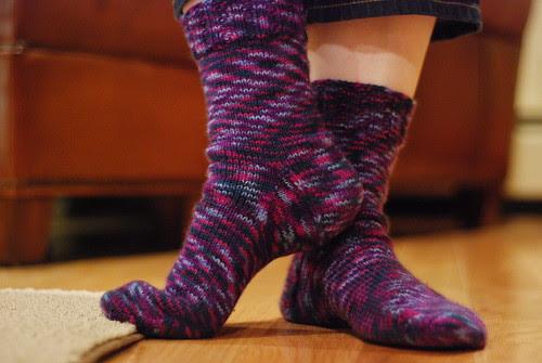new socks (by aswim in knits)