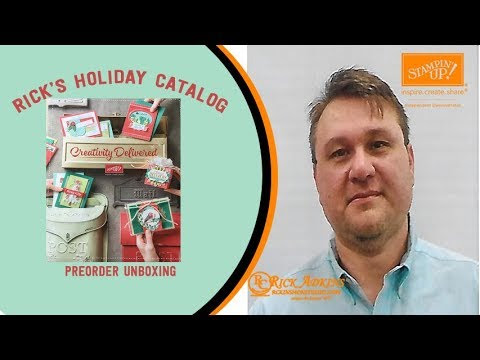 Rick's 2017 Holiday Catalog PreOrder Unboxing