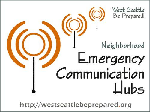 Emergency Communicatio Hubs sign