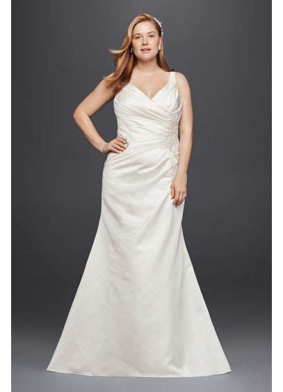 Satin and Lace Plus Size Mermaid Wedding Dress   David's