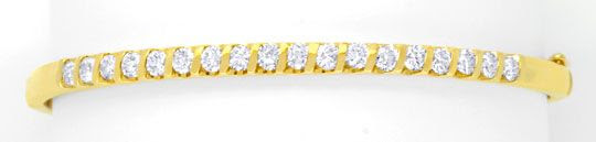 Original-Foto 1, BRILLANTENARMREIF GELBGOLD 1,25ct DIAMANTEN LUXUS! NEU!
