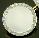 Carrington platinum and mother-of-pearl dress set. (J9250)