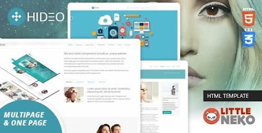 Download Hideo | HTML5 Bootstrap Website Template nulled | OXO-NULLED