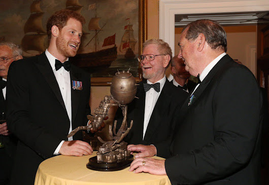 Prince Harry attends fundraising dinner to install statue for navy's diving & mine teams • The Crown Chronicles