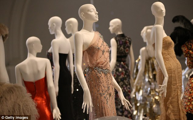 Touch of sparkle: Dresses are made with a vast range of materials - including gems, silk and even latex
