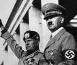 Mussolini e Hitler: líderes do nazi-fascismo