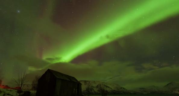 Aurora over Komagfjord, Norway