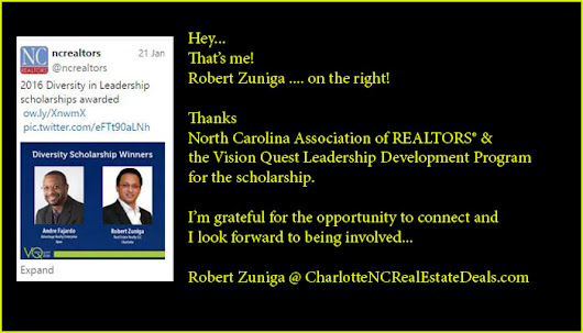 2016-NC Association of REALTORS® and the Vision Quest Leadership Development Program Scholarship | Charlotte NC Real Estate Investor Agent Residential Deals