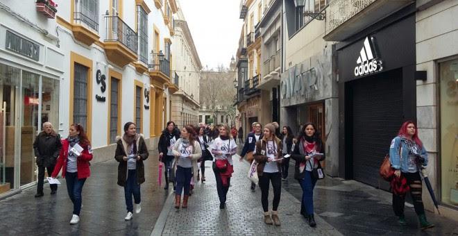 Huelga feminista en Sevilla.- D. C
