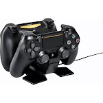 PowerA DualShock Controller Charging Station for PlayStation 4, Snap-down Charging Design, Black