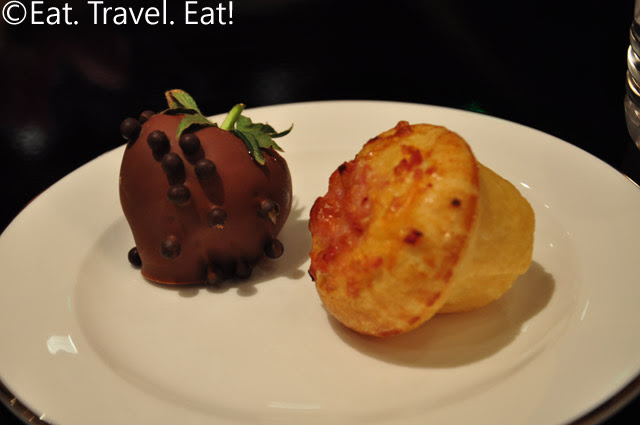 Chocolate Covered Strawberry and Ham and Cheese Brioche