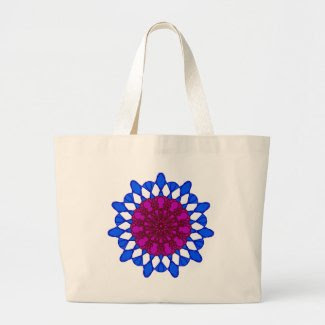 Mandala Design on Jumbo Tote Bag