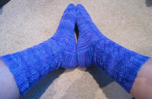 Dragonfly socks 1