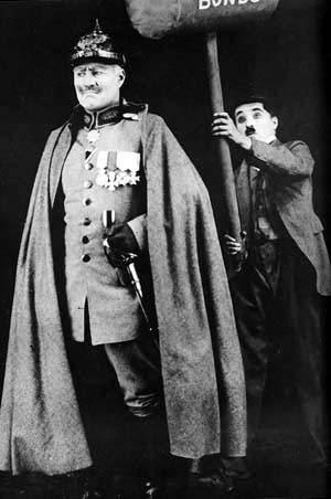 Sydney Chaplin and Charlie Chaplin in The Bond