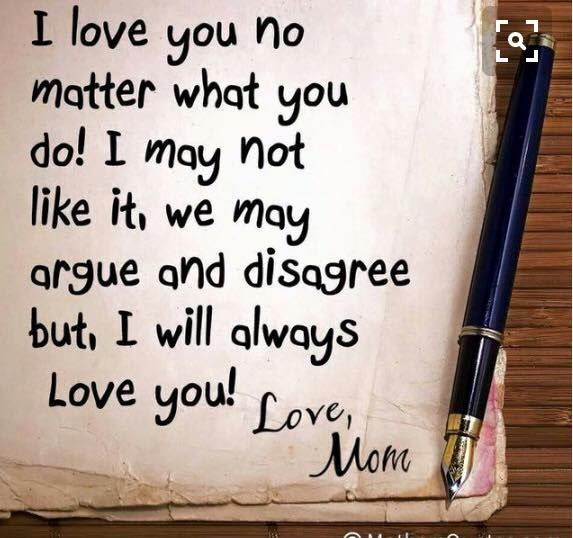 I Love You No Matter What You Do I May Not Like It We May Argue