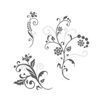Flowering Flourishes Wood Stamp Set