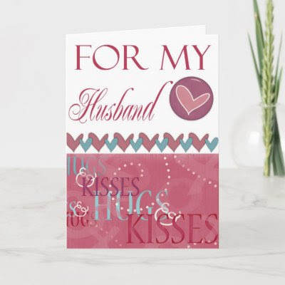 Hugs and Kisses Valentine for Husband Greeting Cards by Be_My_Valentine