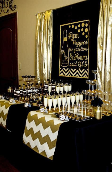 Gold and Black Party   Champagne   Bridal Shower   http