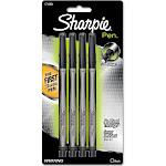 Sharpie Pen Fine Point Pens, Black - 4 pack