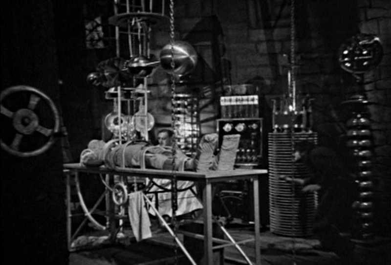 Frankenstein Medical Colin Clive In the Lab