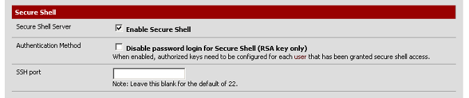 Enable Secure Shell