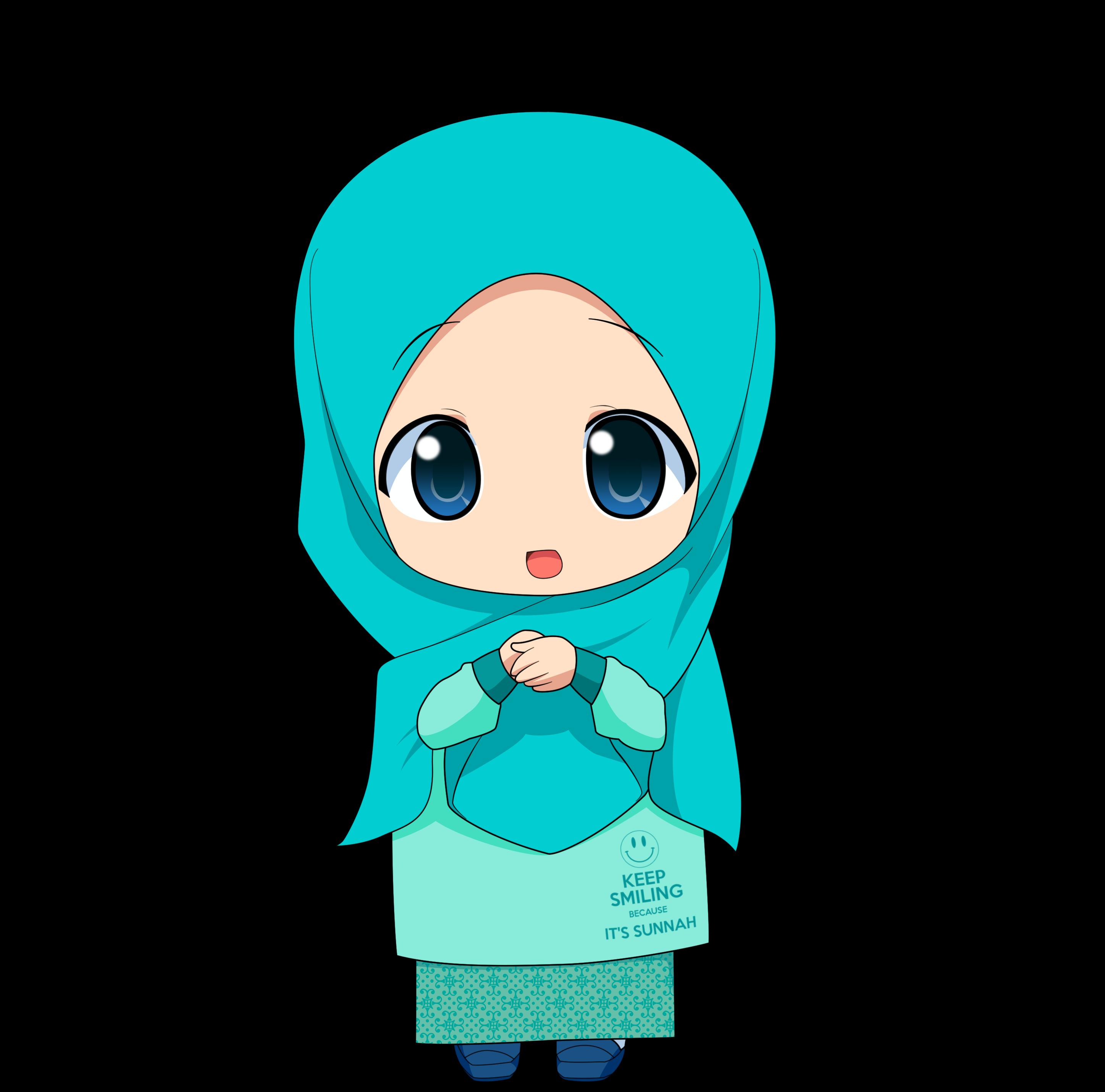 Kartun Chibi Muslimah Comel Dan Lucu Azhanco