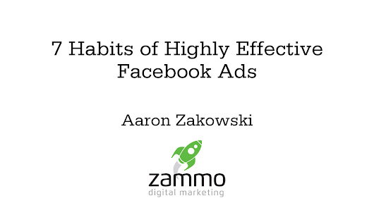 7 Habits of Highly Effective Facebook Ads