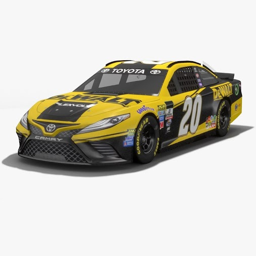 And the last #lowpoly #PBR #3Dmodel from our #Nascar series 2017. #Racing car No.20 driven by #MattKenseth...