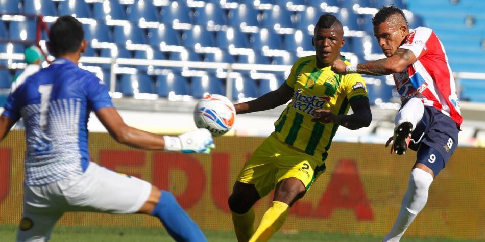 Junior derrotó 1-0 a Atlético Bucaramanga en la fecha 1 de la Liga colombiana I-2018.  Foto: Vanexa Romero / EL TIEMPO
