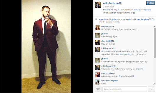 JBD Clothiers | Premium Men's Custom Clothing |   Client Mike Brown tweets about his Crazy Stupid Love Suit!