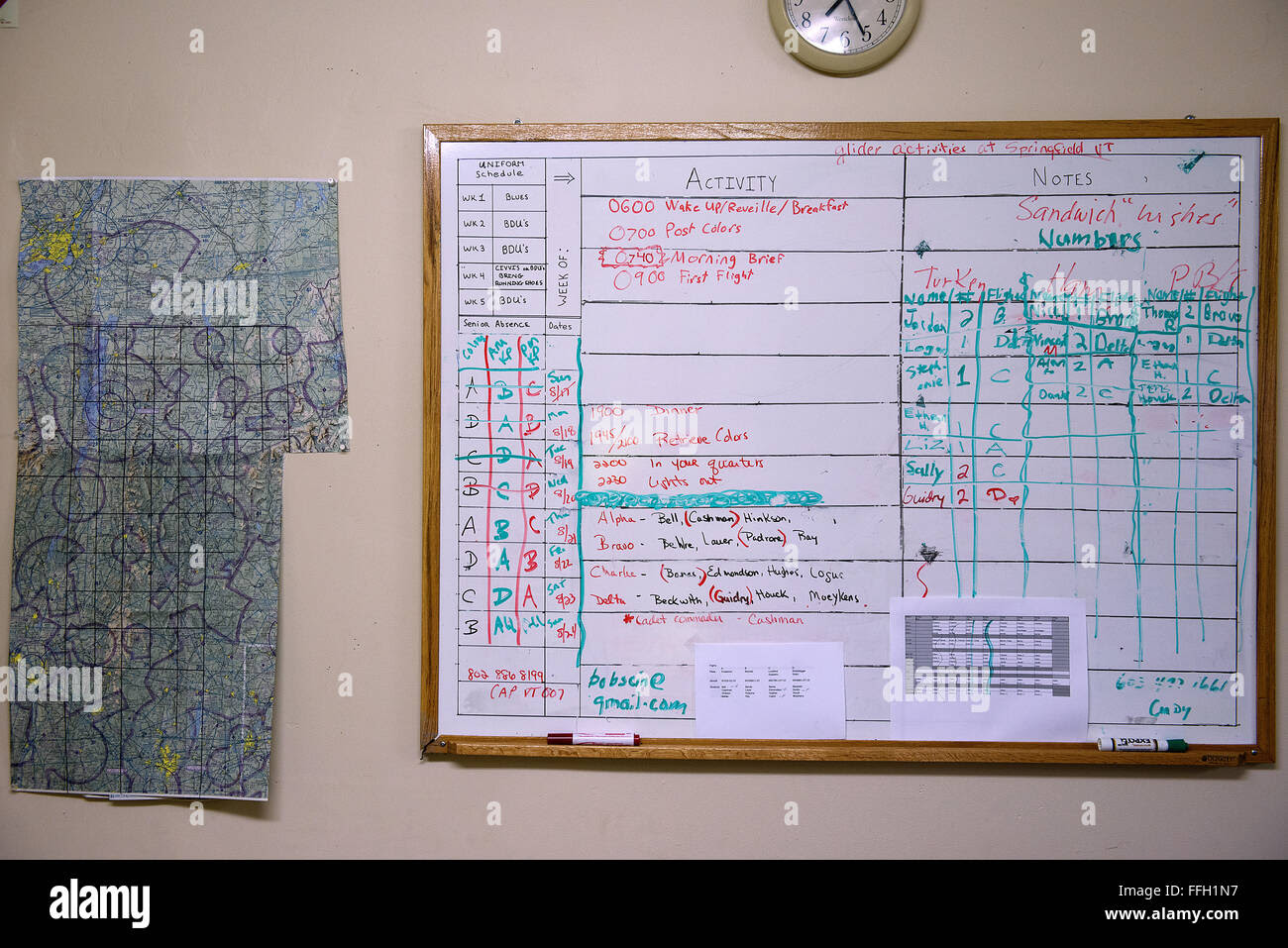 Daily Schedule Dry Erase Board | Daily Agenda Calendar