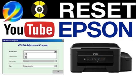 reset epson    printers counter pads youtube