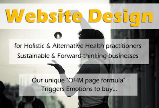 I will do website design for alternative health practitioners
