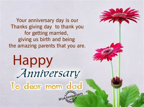 Anniversary Wishes For Parents   Wishes, Greetings