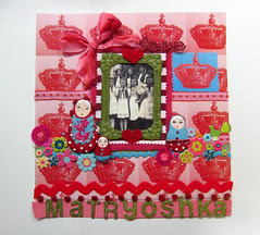 Matryoshka Scrapbook Layout! 9