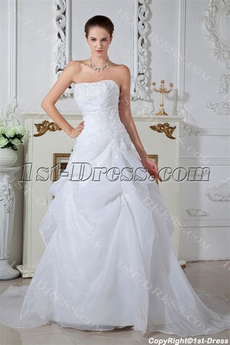 Ivory Strapless Cheap Wedding Dresses Online Australia IMG