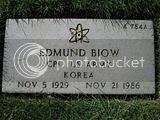 Edmund Biow tombstone