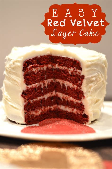 Easy Red Velvet 5 Layer Cake made using the Wilton 5 Layer