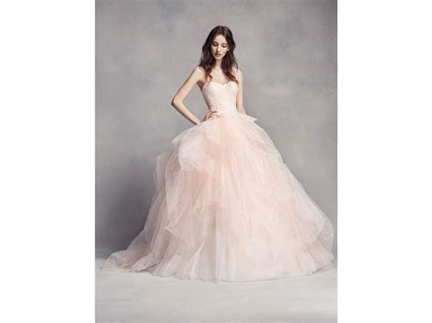 Vera Wang White Ombre Tulle Wedding Dress, VW351322, $798