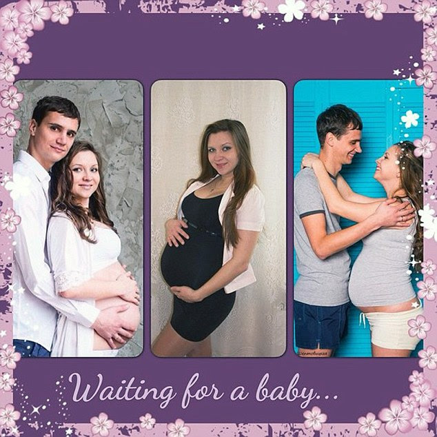 The young couple were both active on social media and posted several images chronicling their pregnancy and excitement ahead of Darina's birth