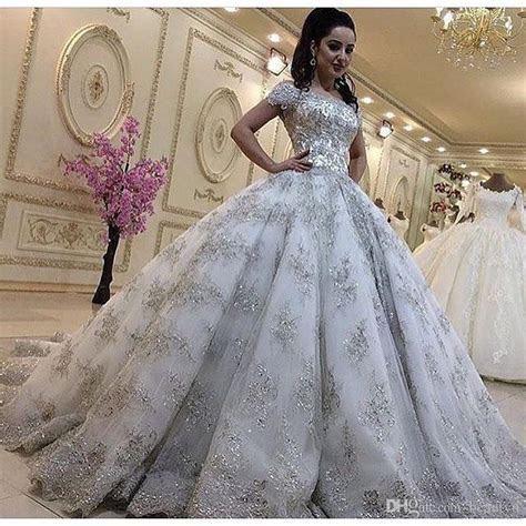 Luxurious Bling Lace Wedding Dresses Plus Size Princess
